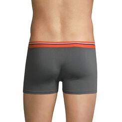Boxer gris foncé ceinture orange feu DIM Colors, , DIM