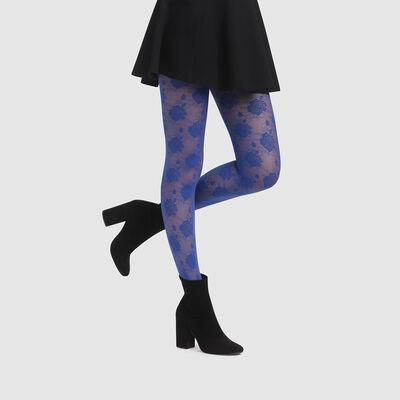 Collant Imprimé rose couture bleu impertinent Style de Dim 20D, , DIM