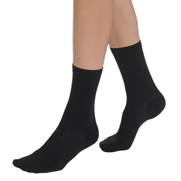 Chaussettes noires hydratantes Sublim Femme, , DIM