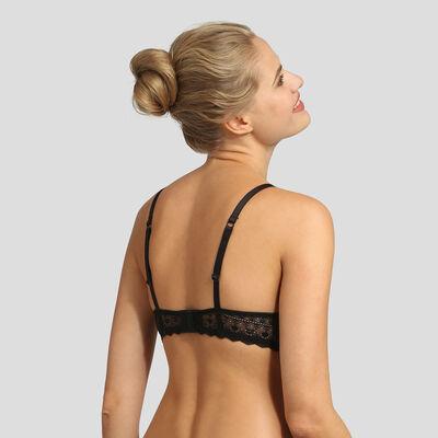 Soutien-gorge foulard push-up dentelle graphique noir Daily Glam Dim, , DIM