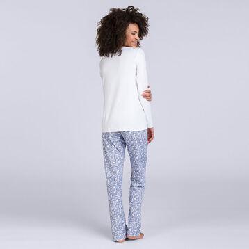 T-shirt à manches longues blanc Soft & Cool Femme-DIM