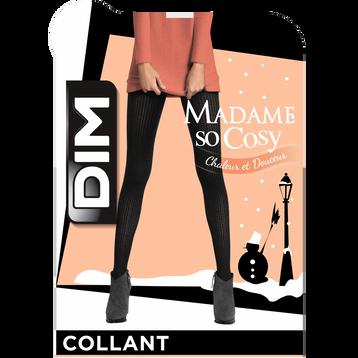 Collant noir maille côtelée 158D Madame so Cosy-DIM ee0aabf2e18