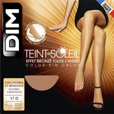 Collant Teint de Soleil, coloris terracotta Effet nu intégral 17D, , DIM