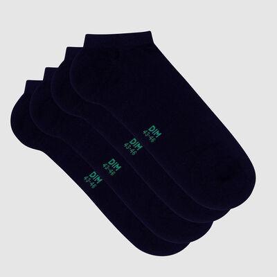 Lot de 2 paires de socquettes homme en coton bio Marine Green by Dim, , DIM