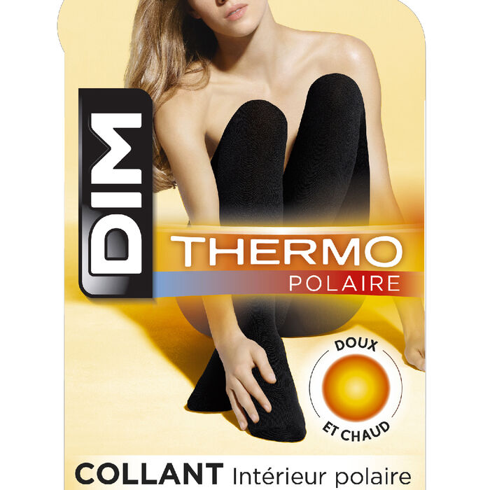 Collant chaud noir Thermo Polaire 143D, , DIM