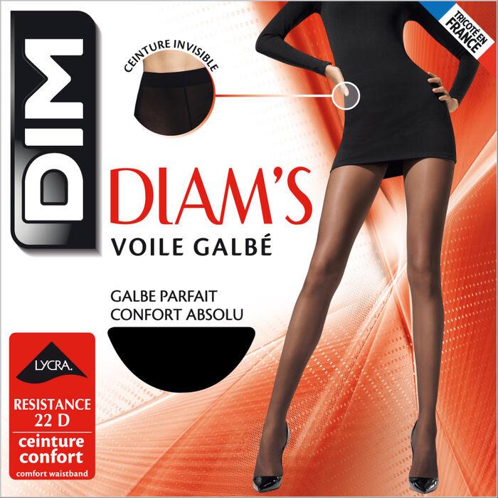 Collant noir Diam's Voile Galbé 22D, , DIM