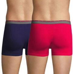 Lot de 2 boxers fuchsia et violet auburn Ultimate-DIM