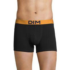 Boxer noir ceinture jaune safran Mix & Colors-DIM