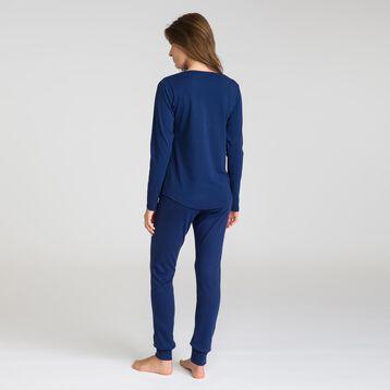 Tee-shirt manches longues bleu matelot Soft & Cool-DIM