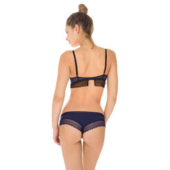 Lot de 2 shortys rouge et bleu coton dentelle Sexy Fashion-DIM