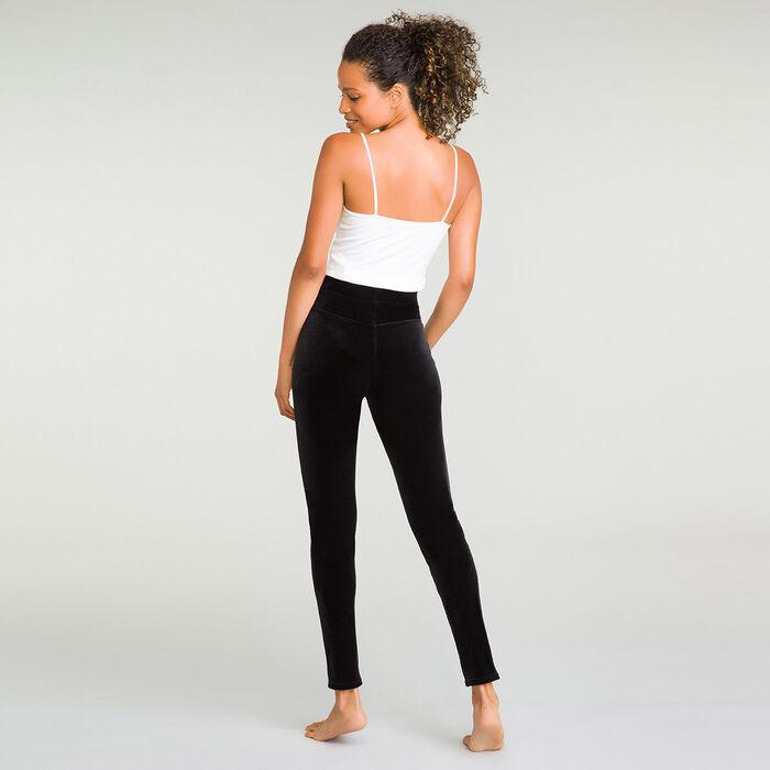Tregging noir en velours pour femme Style, , DIM