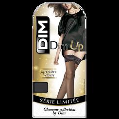 DIM Up noir jarretière velours 15D-DIM