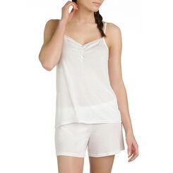 Caraco de pyjama nacre en lyocell Femme-DIM