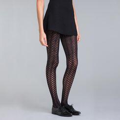 Collant crochet cosmique noir 93D Style-DIM