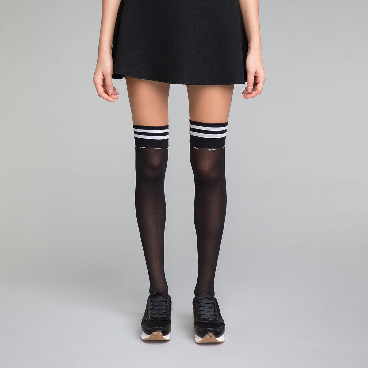 Et Hautes Sporty Look Chaussettes Noires Femme Style Dim Blanches OPXiTkZu