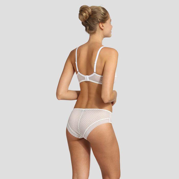 Culotte blanche en dentelle Résille Chic de Dim, , DIM
