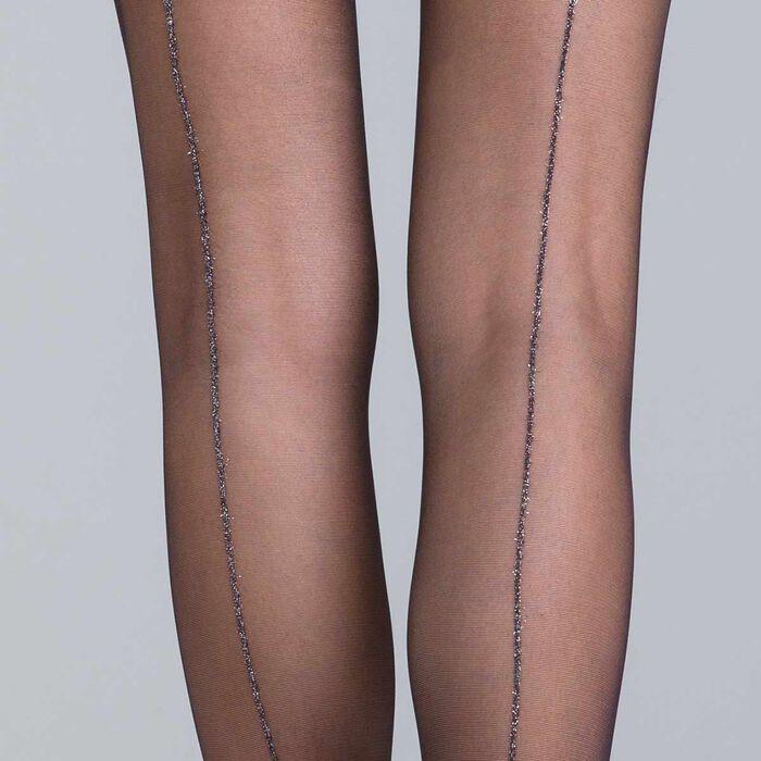 Collant couture lurex noir et argent Style-DIM