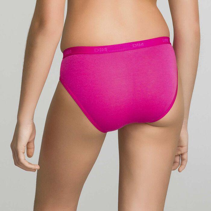 Lot de 3 culottes rose bonbon imprimé Les Pockets DIM Girl, , DIM