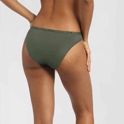 Culotte en dentelle et microfibre vert kaki Dim Intimately, , DIM