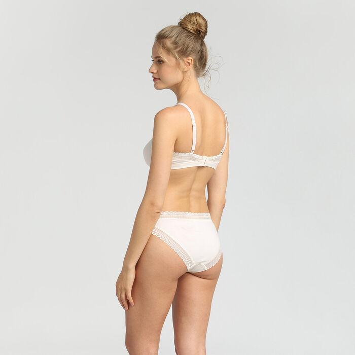 Soutien-gorge triangle sans armatures en coton nacre Cotton Lace de Dim, , DIM