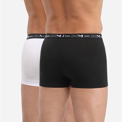 Lot de 2 boxers noir et blanc DIM Coton Stretch, , DIM