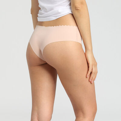 Lot de 2 hipsters en coton stretch chocolat/skin rose Body Touch, , DIM