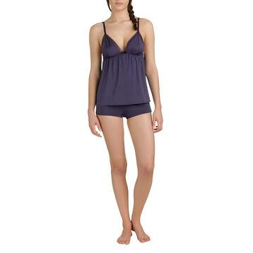 Shorty de pyjama bleu turquin Femme-DIM