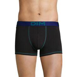 Boxer noir ceinture bleu pétrole Mix & Colors-DIM
