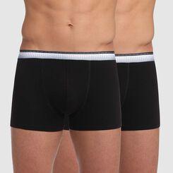 Lot de 2 boxers noir avec ceinture ajustée Absolu Fit, , DIM