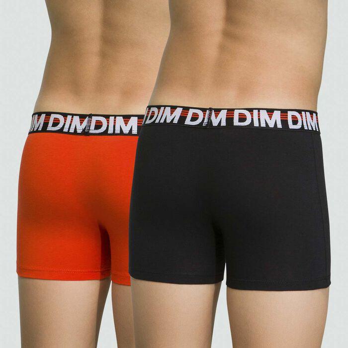 Lot de 2 boxers pour garçon Citrouille en coton stretch Eco Dim, , DIM
