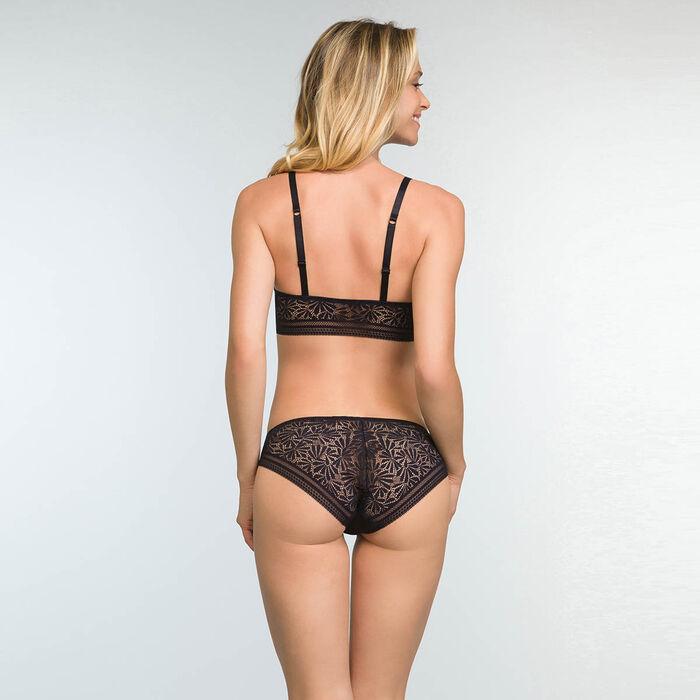 Culotte Noire en dentelle et microfibre pour femme Sublim Fashion, , DIM