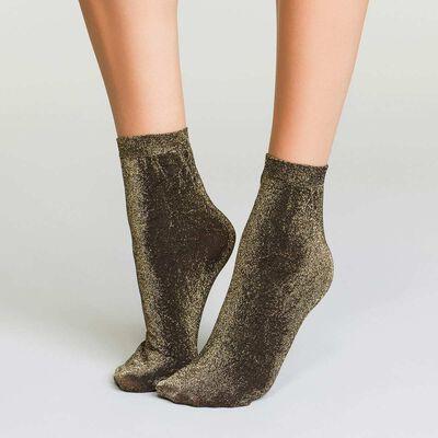 Socquettes lurex or pour Femme Style, , DIM