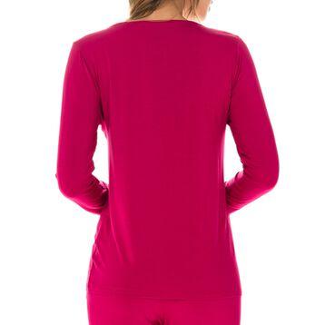 T-shirt de pyjama manches longues rouge en modal Femme-DIM