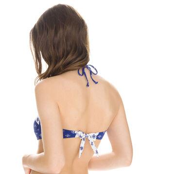 Haut de maillot de bain bandeau imprimé bandana Femme-DIM