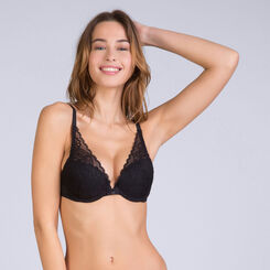 Soutien-gorge foulard push-up noir Sublim Dentelle-DIM