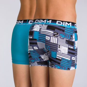 Lot de 2 boxers navy blue graphique Eco Dim DIM BOY, , DIM