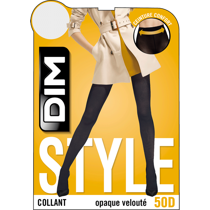 Collant chocolat opaque velouté Style 50D-DIM
