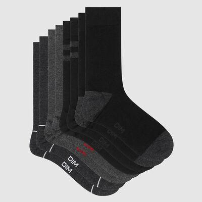 Lot de 4 paires de chaussettes homme motif marin Gris Les Bons Plans, , DIM