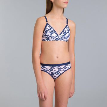 Soutien-gorge sans armatures Pocket Blue Flower DIM Girl-DIM