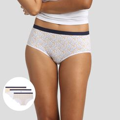 Lot de 3 boxers imprimé mimosa Les Pockets Coton Stretch de Dim, , DIM