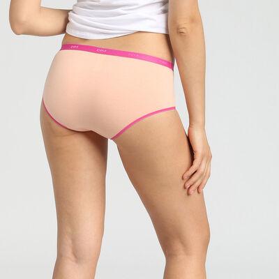 Lot de 3 boxers en coton stretch rose/gris/nacre Les Pockets EcoDim, , DIM