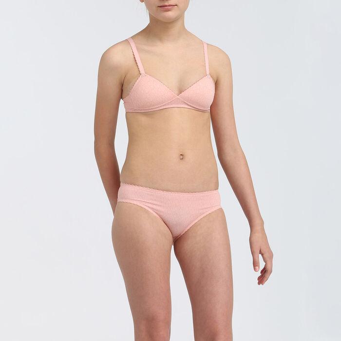 Soutien-gorge triangle à coques fille microfibre Rose Blush Dim Touch, , DIM