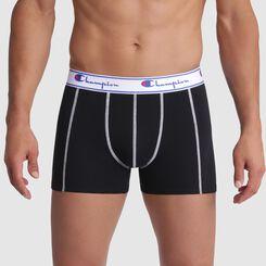 Boxer noir coutures contrastées blanches - Champion, , DIM