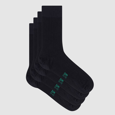 Lot de 2 paires de chaussettes homme lyocell côtes Marine Green by Dim, , DIM