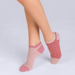 Lot de 2 socquettes courte Coton Style à pois Femme-DIM