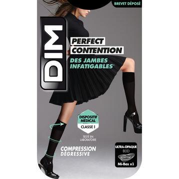Mi-Bas Ultra-Opaque Noir de Contention pour Femme Perfect Contention, , DIM