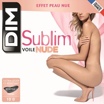 Collant Sublim voile effet nude beige rosé 10D, , DIM