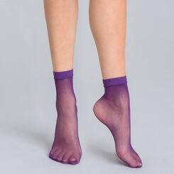 Socquettes résille violet nocturne Style-DIM