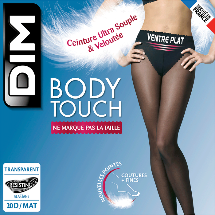 Collant noir Body Touch Ventre Plat 20D-DIM