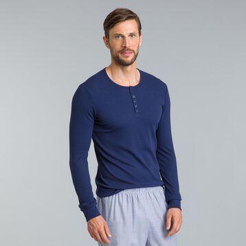 Tee-shirt de pyjama manches longues bleu marine-DIM